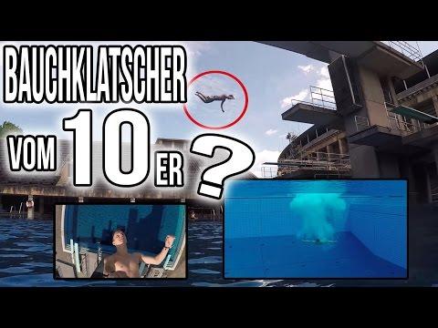 BAUCHKLATSCHER vom 10er? Max mit Max im Olympia-Schwimmbad mit der GoPro 4 | VLOG#7