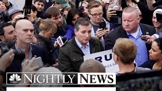Cruz Gets in Face-To-Face Debate With Trump Supporters in Indiana   NBC Nightly News