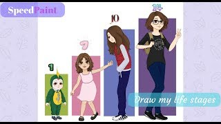 SpeedPaint | 10【Draw my life stages】