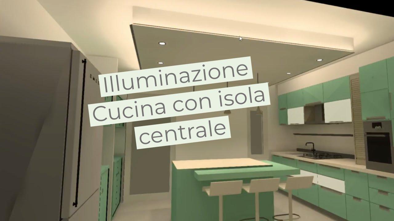 Come Illuminare Una Cucina come illuminare una cucina con isola centrale   metodo luce 3d