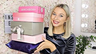 UNBOXING FEBRUARY/MARCH BEAUTY SUBSCRIPTION BOXES 2020 / Glosybox, Birchbox, Roccabox