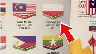 Indonesia VS Malaysia: bendera Indonesia terbalik dalam buku panduan Sea Games 2017 - TomoNews