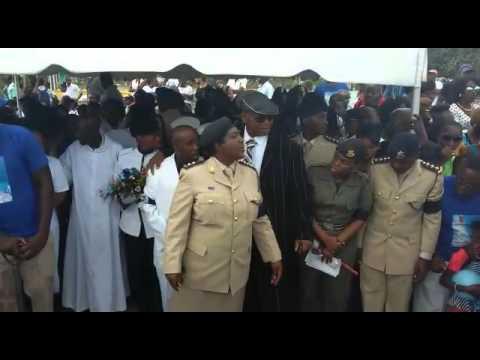 Gun drops from girl at funeral in Barbados