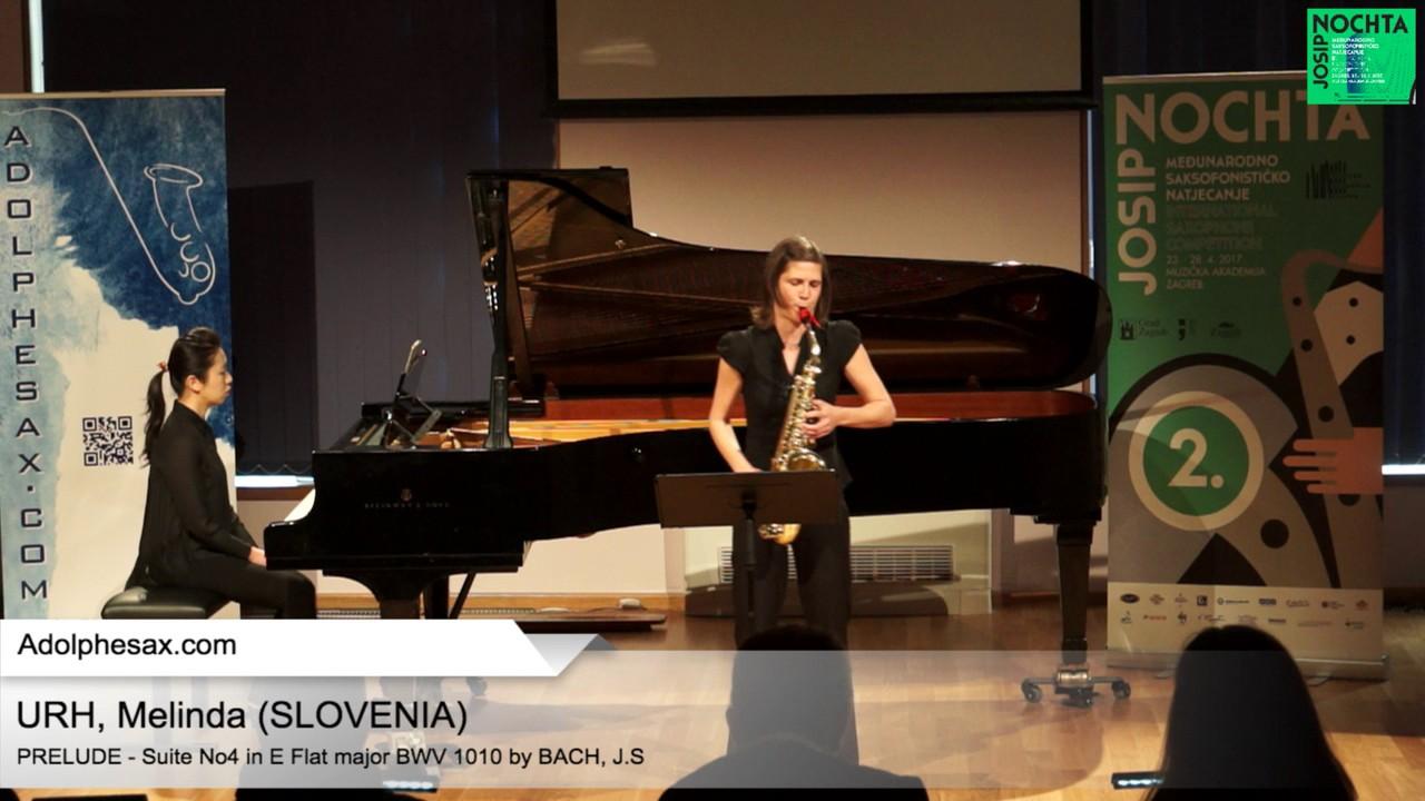 Johann Sebastian Bach – Suite No 4 in E  at major BWV 1010 – Pre?lude – URH, Melinda (Slovenia)