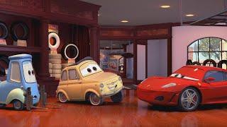 В лавку Гвидо и Луиджи заехал Ferrari Тачки отрывок из фильма