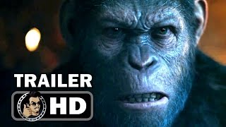 WAR FOR THE PLANET OF THE APES - Official Trailer #1 (2017) Andy Serkis Sci-Fi Action Movie HD