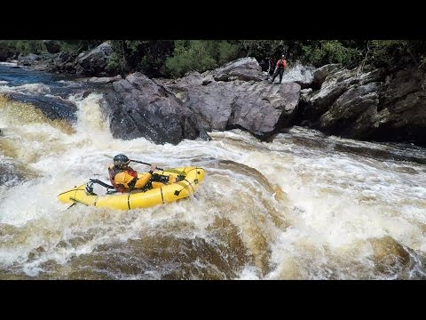 Packrafting the Denison River in South West Tasmania