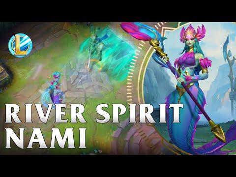 River Spirit Nami Skin Spotlight - WILD RIFT