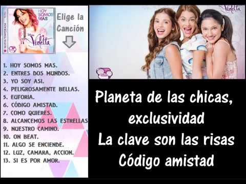 Violetta 2  CD N°3   6  Código Amistad LETRA)v   YouTube Videos De Viajes