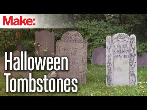 DIY Foam Tombstones