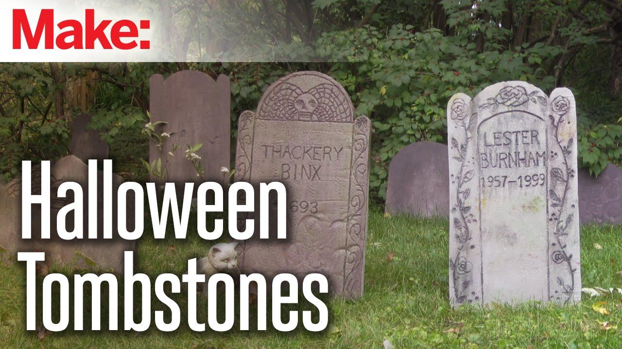diy foam tombstones make