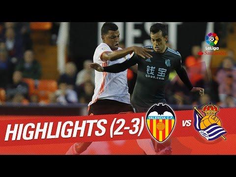Resumen de Valencia CF vs Real Sociedad (2-3)
