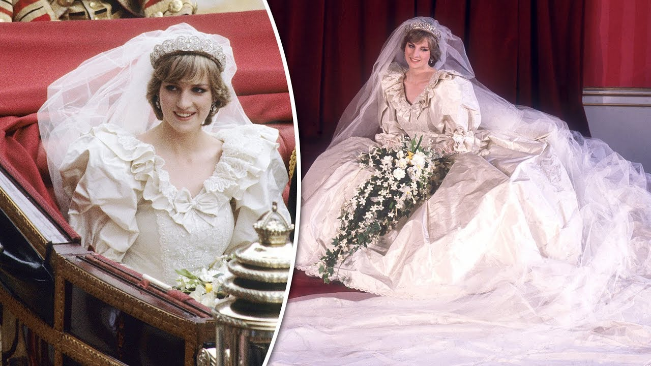 Princess Diana sewn into wedding dress as she dropped 5.5 INCHES ...
