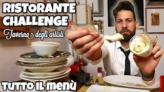 200 € RISTORANTE challenge - TUTTO IL MENÚ - (10000 calorie) Cheat Day - MAN VS FOOD