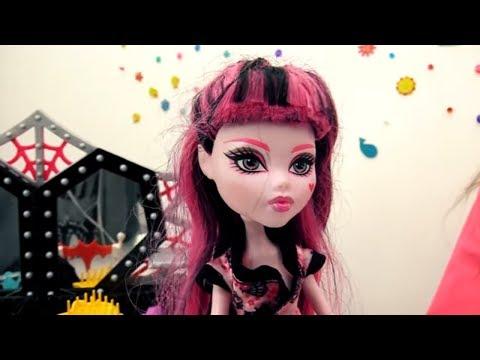Куклы Монстер Хай: #Дракулаура идет на свидание с...НЕЙТАН РОТ распаковка. Видео для детей