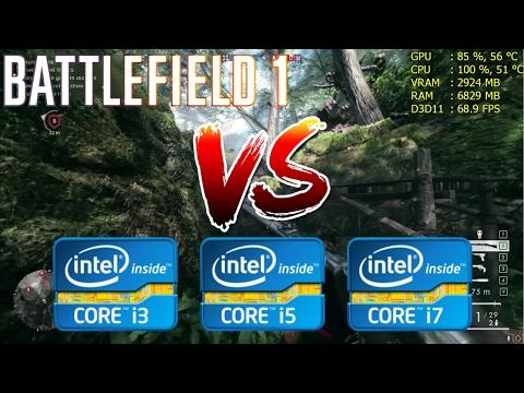 Intel Core i3 vs i5 vs i7 | Battlefield 1 - Gaming Performance