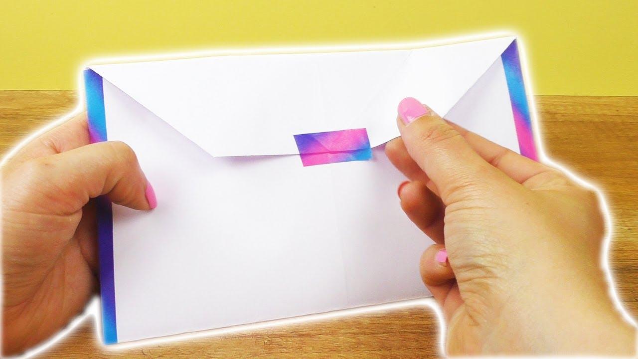 Briefumschlag Basteln Toller Umschlag Für Karten Einladungen Basteln Für Kids