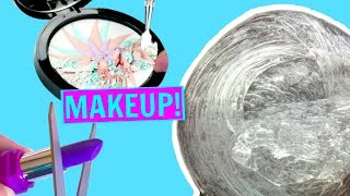 connectYoutube - MIXING MAKEUP INTO CLEAR SLIME!! Satisfying Makeup Slime Mixing!