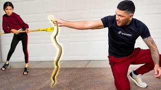 There Was A GIANT RATTLESNAKE In Our HOUSE!!! **TERRIFYING**