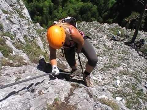 Klettersteig Oberösterreich : Drachenwand klettersteig youtube