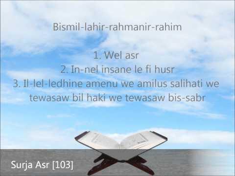 Meso Suren Asr ( Në Transliterim Shqip dhe Përkthim Shqip ) Në HD