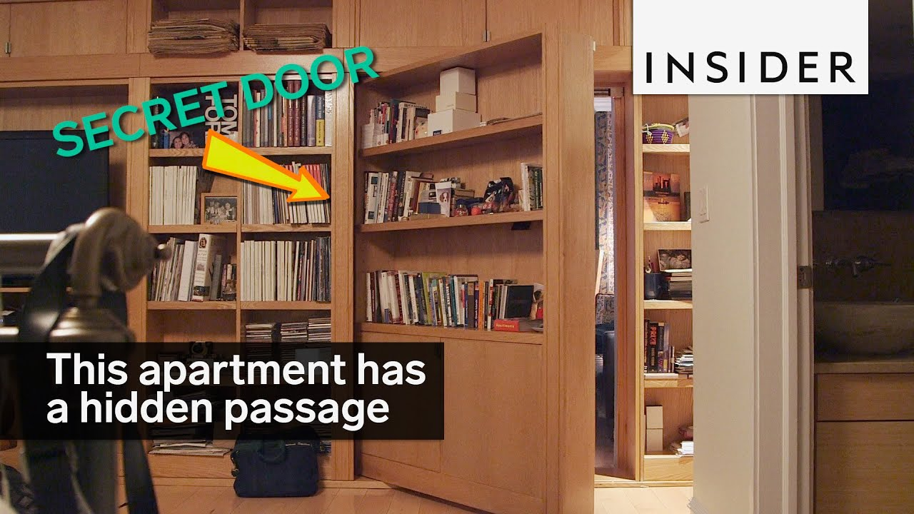 This Apartment Has A Hidden Passageway Behind A Bookcase Youtube