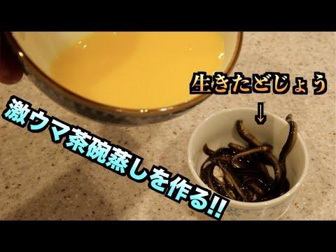 生きたどじょうで茶碗蒸しを作ったら逃げ方がエグかった。。。