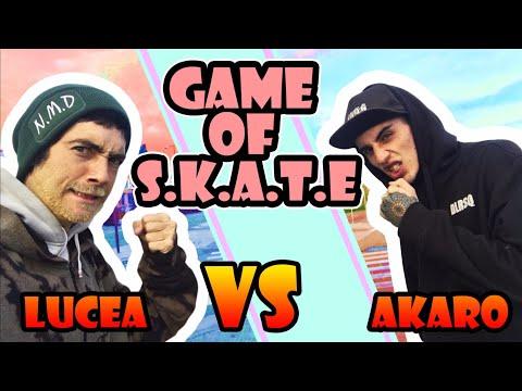 GAME OF SKATE  AKARO VS LUCEA / game de trucos RAROS 🤷🏻♂️