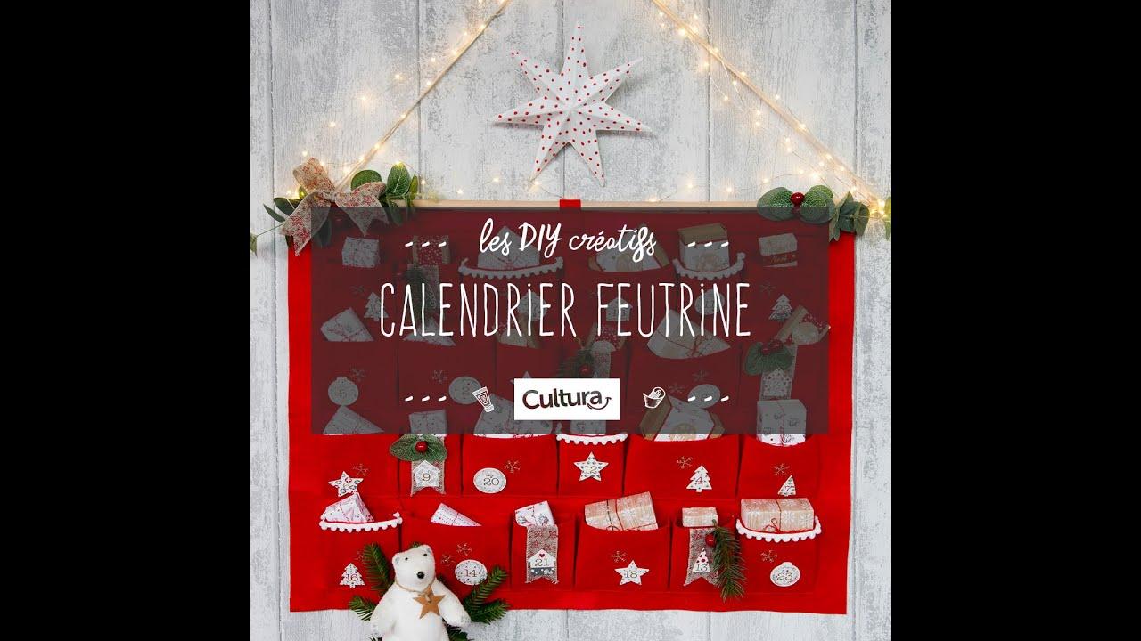 Calendrier De L Avent Feutrine.Diy Creatif Calendrier De L Avent Feutrine Rouge Et Blanc