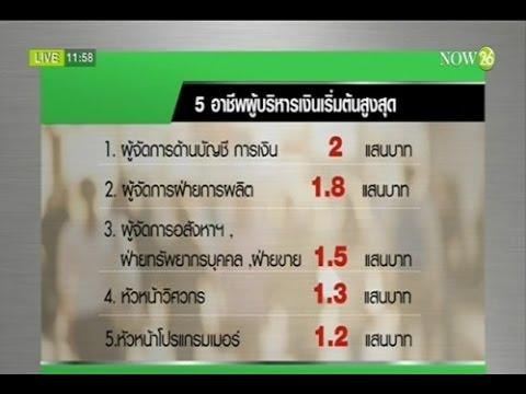 News จ๊อบไทยยกผู้จัดการบัญชีเงินเดือนเริ่มต้นสูงสุด