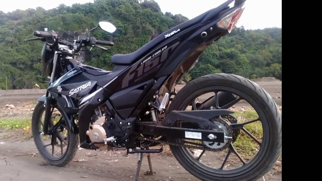 Raider 150 Matte Black >> Modified Suzuki Raider f150 fi 2016 - YouTube