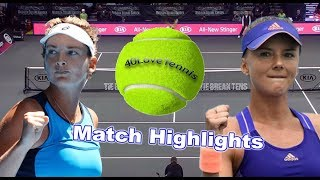 CoCo Vandeweghe vs Daniela Hantuchova Highlights Tie Break Tens NY 2018