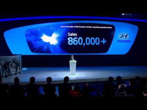 2013 Shanghai Auto Show Hyundai Press Conference
