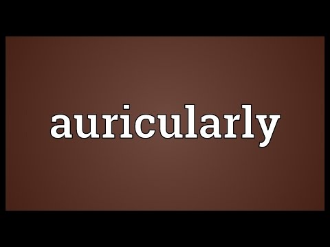 Header of auricularly