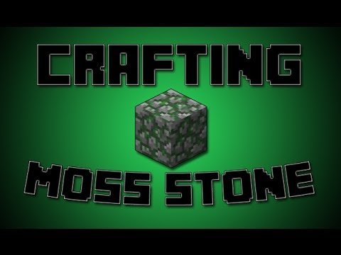 How To Make Moss Stone In Minecraft 1 8 Crafting Recipe Turorial Mossy Cobblestone You