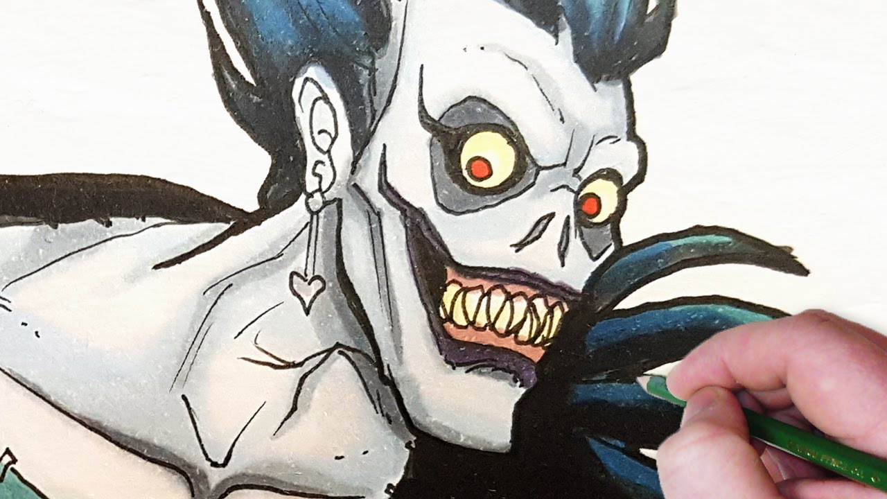 Let S Draw Deathnote Characters Ryuk Light And L