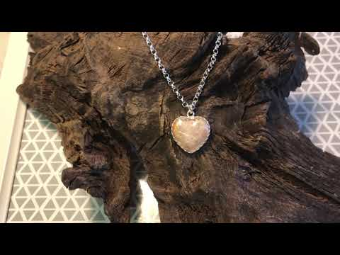 Pink Cremation Ashes Heart Necklace