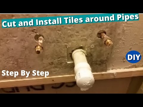 How To Cut And Install Tiles Around Pipes Drill And Cuts Holes - Cutting holes in tile for plumbing