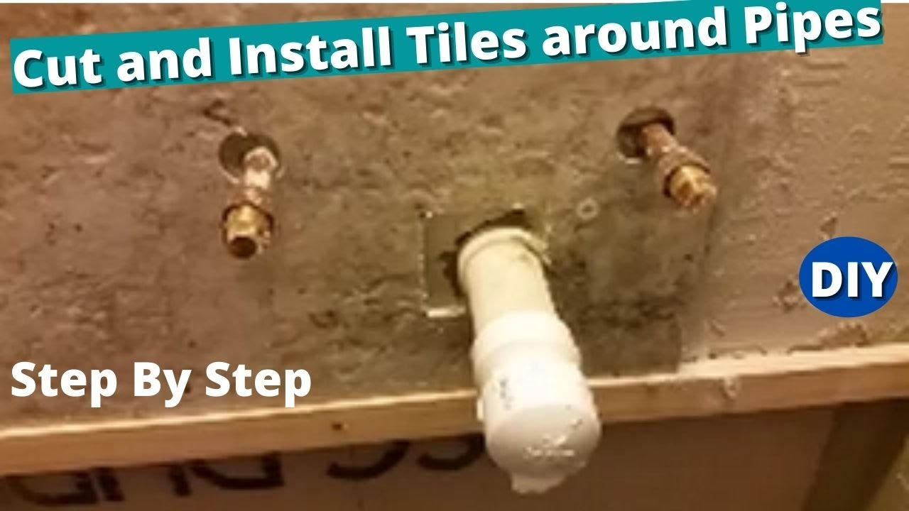 How To Cut And Install Tiles Around, How To Cut Tiles Fit Around Pipes