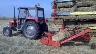 Bailing hay July 2010 - MF240 + kemper BE125 part 2