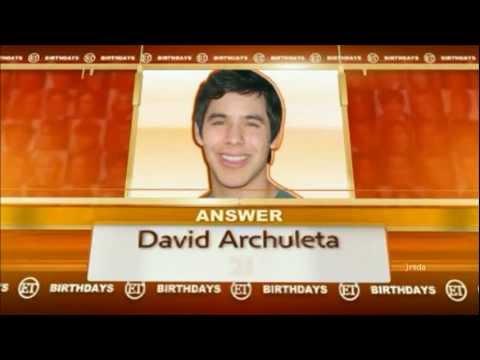 Download Youtube: 43-54 David Archuleta @ ETonline BDAY QUIZ (28 Dec 2011)