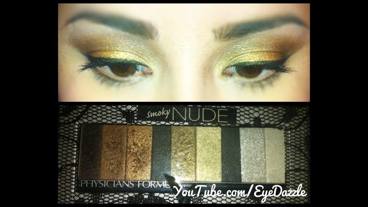 Physicians Formula Smoky Nude Palette Gold Smoky Eye Makeup