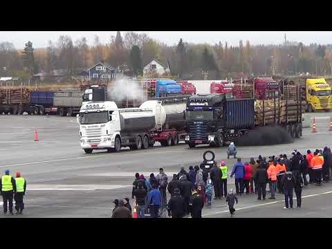 Truck Dragrace in Kauhava Airport Finland  21.10.2017