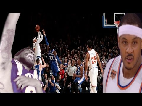 JUST GIVE THE BALL TO HESO MELO!!! KNICKS vs SIXERS HIGHLIGHTS REACTION