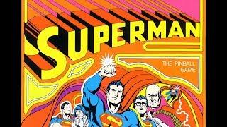 1979 ATARI SUPERMAN Pinball Machine in Action