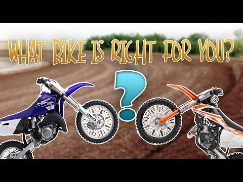 What size bike is right for you? How big is to big? 65/85/125/250cc