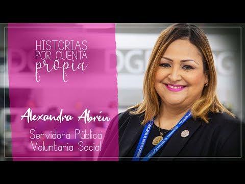 Alexandra Abréu es una servidora pública por elección y convicción. Le gusta ayudar a los demás