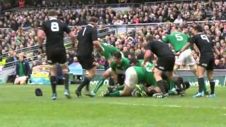 Cian Healy Tramples Over Richie McCaw Reverse Camera Angle