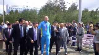 Ивана Дычко встречают в Костанае