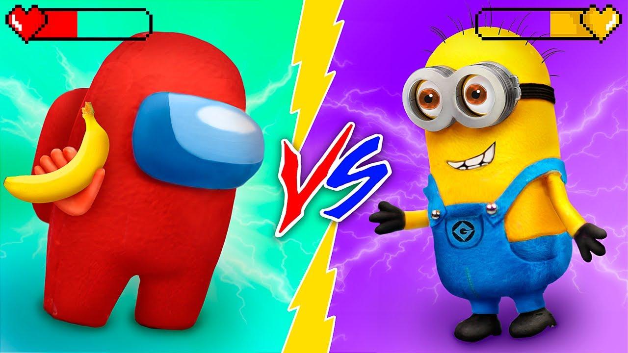 Mẹo Tự Làm Búp Bê Among Us vs Minion